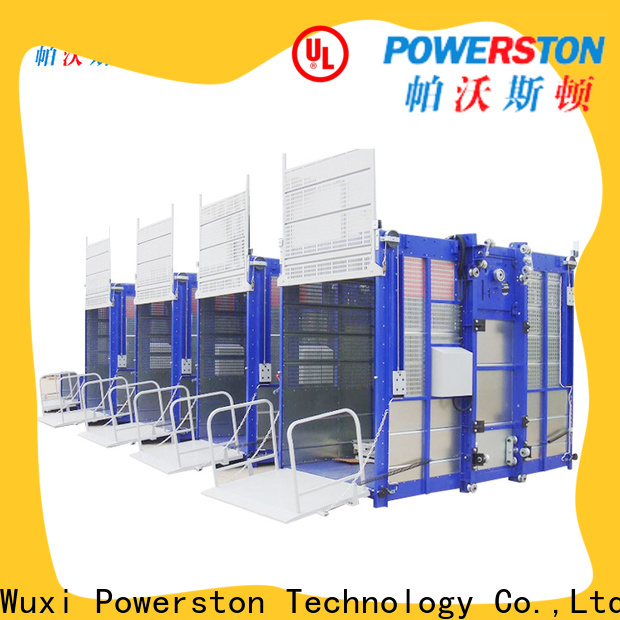 Powerston construction passenger material hoist manufacturers for window cleaning