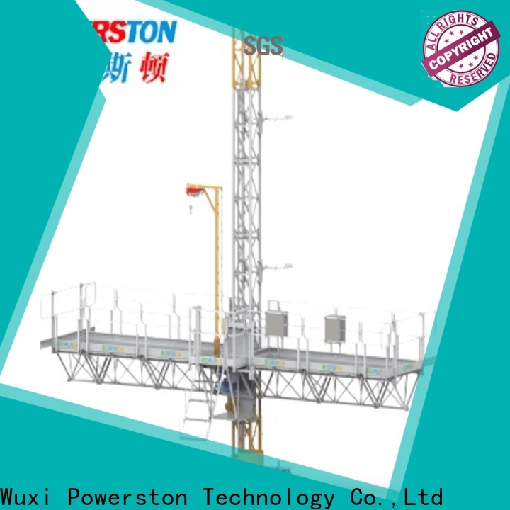 Powerston new mast climbing work platform safety suppliers for construction inspection and maintenance