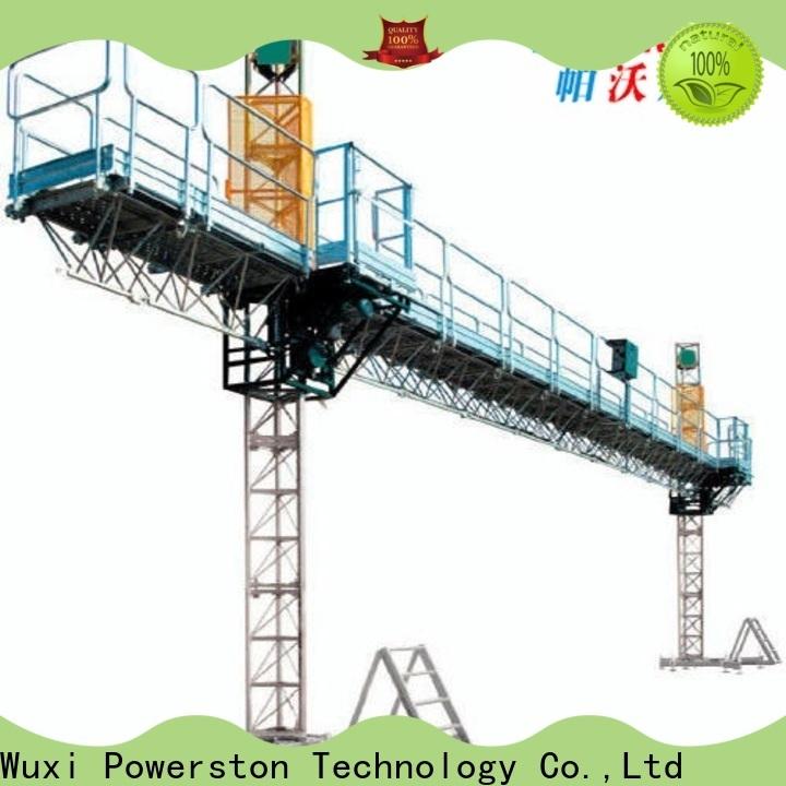 Powerston new mast climbing work platform safety supply for bridge construction