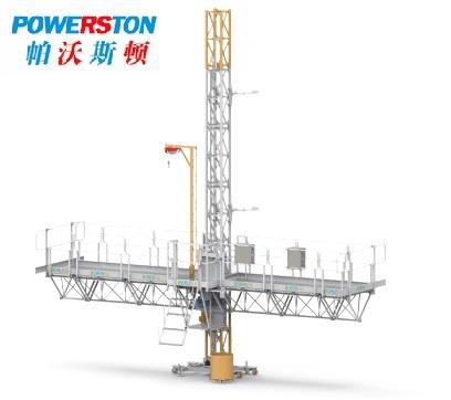 Single tower mast climbing work platform