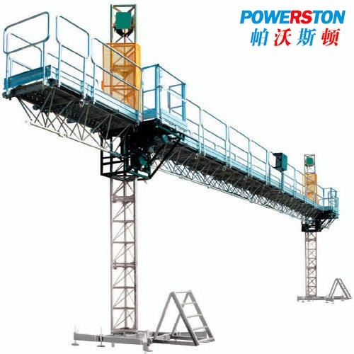 Building construction mast climbing work platform