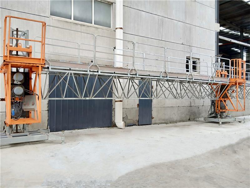 Display of MC450 & MC650 Single/Double Mast climbing work platform