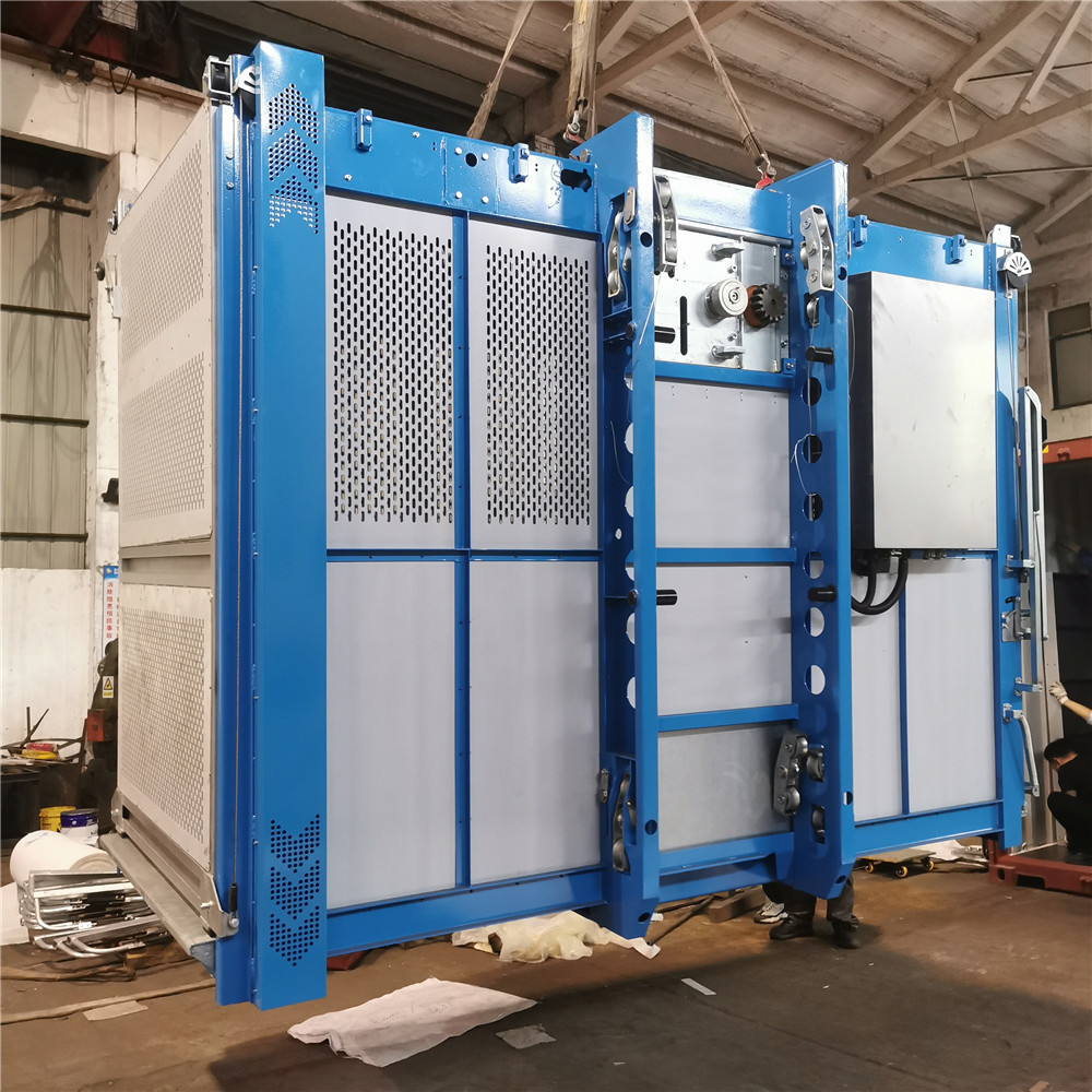 Single cage building construction hoists load containers SC200