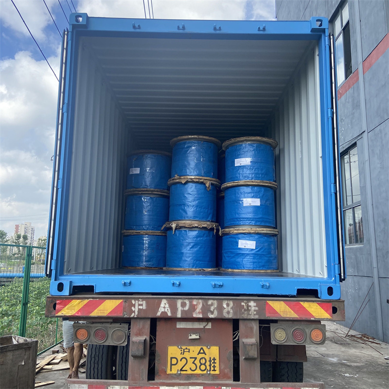 Steel wire ropes loading container