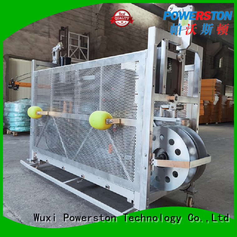 Powerston hoist window washing basket company for high-rise building