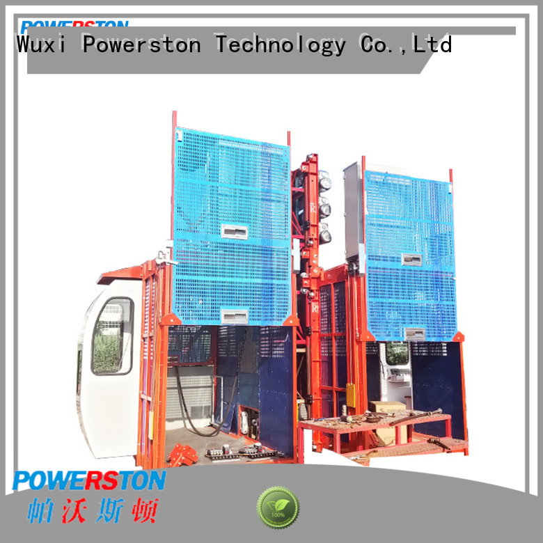 Powerston pinion construction lift manufacturers for construction inspection and maintenance