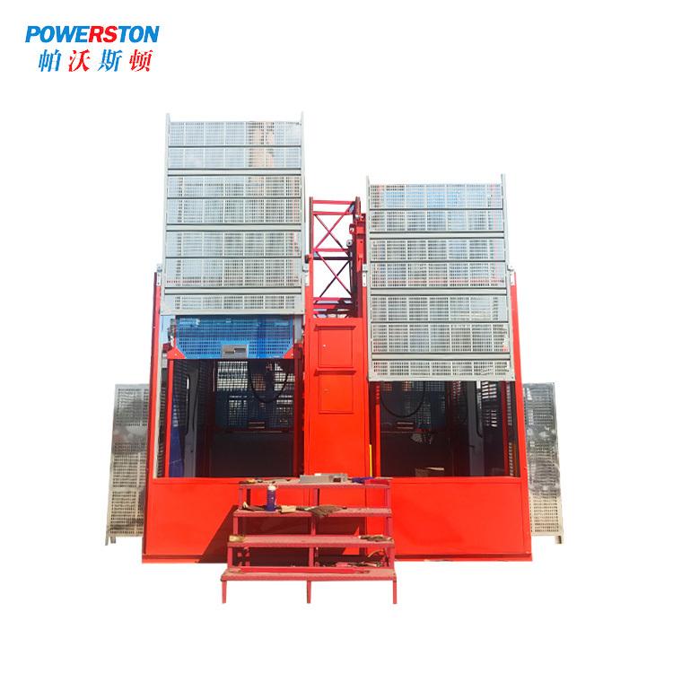 Conversion Double Cage Construction Building Hoist