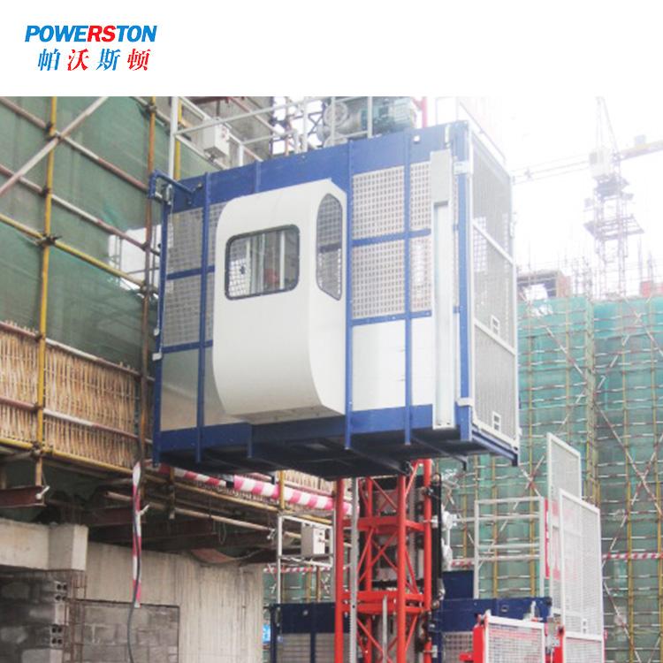 Powerston cage alimak construction hoist factory for bridge construction-2