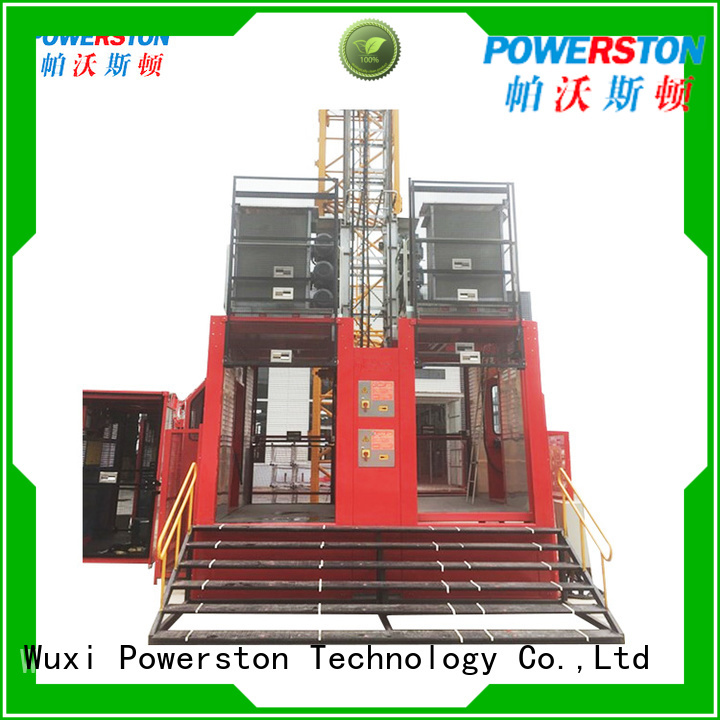 Powerston latest construction material lifting hoist factory for construction inspection and maintenance