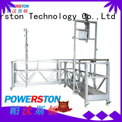 Powerston building temporary platform factory for chimney construction
