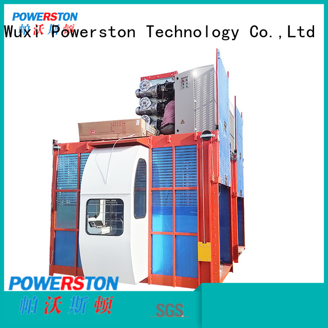Powerston elevator rooftop crane hoist factory for construction inspection and maintenance