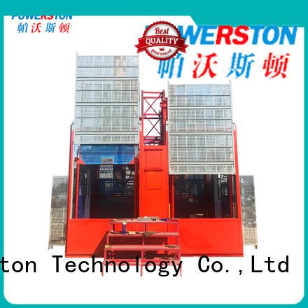 Powerston passenger hoist warehouse for construction inspection and maintenance