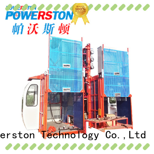 Powerston elevator electric scaffold hoist factory for chimney construction