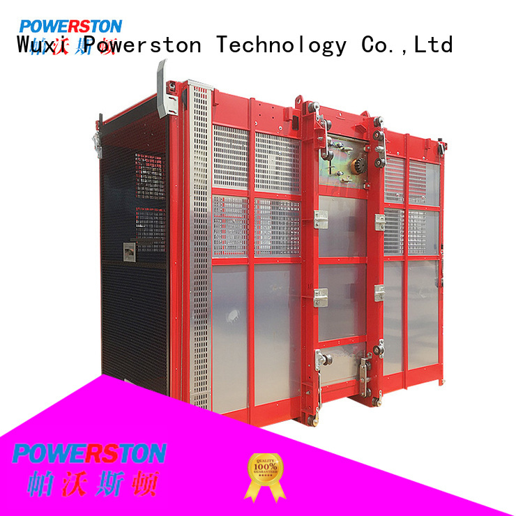 Powerston custom construction hoist for chimney construction
