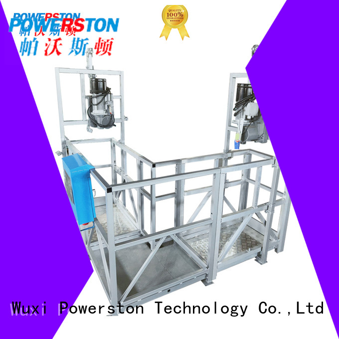 Powerston exterior suspended personnel platform factory for chimney construction