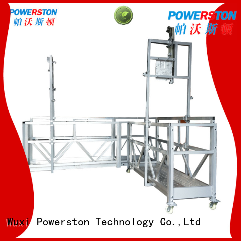 Powerston crane rope suspended platform india factory for bridge construction