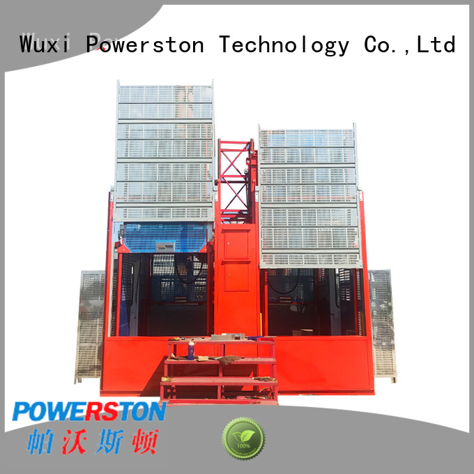 Powerston pinion man lift platform suppliers for chimney construction