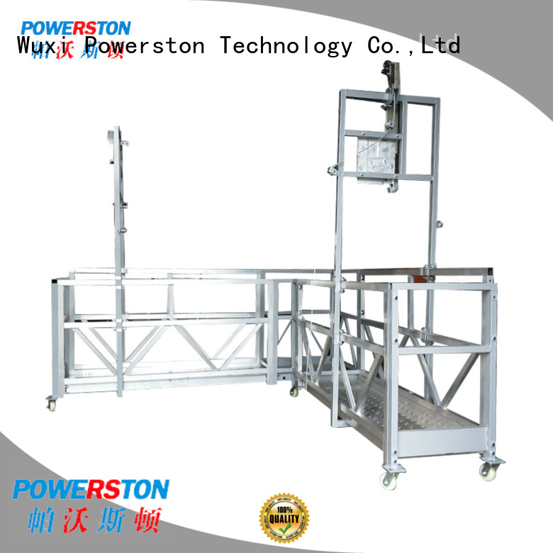 Powerston suspended safe working platform for bridge construction