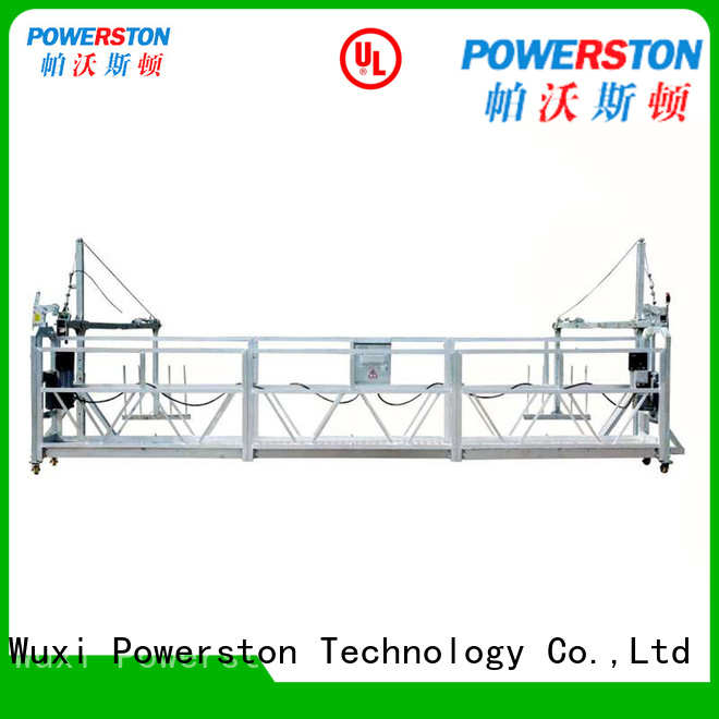 Powerston top window washing platform company for construction inspection and maintenance